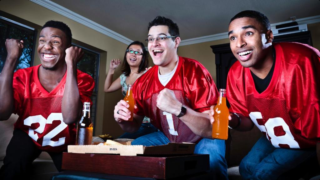 SB090613-sports-fantasy-football-fans-watching-game-tv-team-men-happy